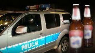 Policjanci z Garwolina i akcja z butelkami po piwie
