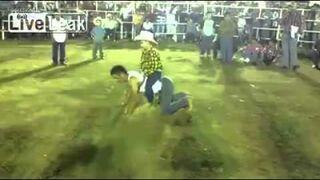 Ludzkie rodeo, jak skręcić kark dziecku...