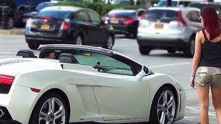Olała swojego chłopaka, aby przejechać się Lamborghini z obcym typem!