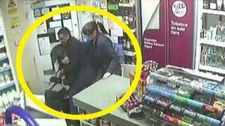 Nieudany napad z siekierą na sklep