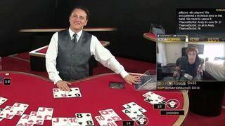 Przegrał 5 tyś. dolarów w Blackjacka. Zobacz reakcję!