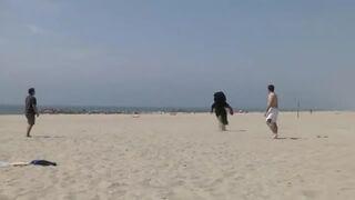 PSIkus na plaży